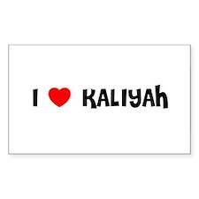 I LOVE KALIYAH Rectangle Decal