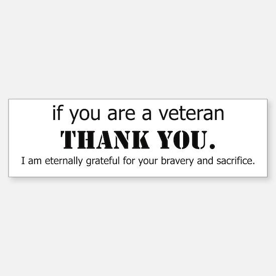 If you are a Veteran... Bumper Car Car Sticker