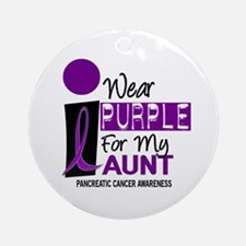 I Wear Purple For My Aunt 9 PC Ornament (Round)