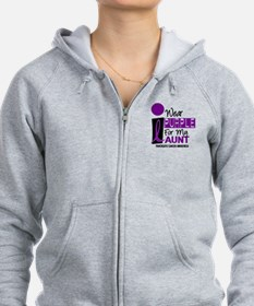 I Wear Purple For My Aunt 9 PC Zip Hoodie