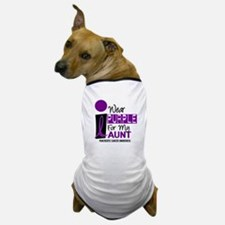 I Wear Purple For My Aunt 9 PC Dog T-Shirt