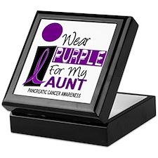 I Wear Purple For My Aunt 9 PC Keepsake Box