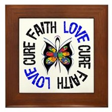 Autism FaithLoveCure Framed Tile
