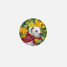 Easter boxer puppy Mini Button