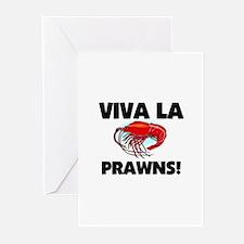 Viva La Prawns Greeting Cards (Pk of 10)