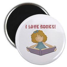 """I Love Books (blond) 2.25"""" Magnet (10 pack)"""