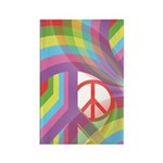 Rainbow of Peace Rectangle Magnet