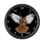 Flight Pigeon Large Wall Clock