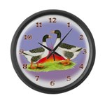 Pommeranian Geese Large Wall Clock