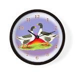 Pommeranian Geese Wall Clock