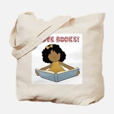 African America I Love Books Tote Bag