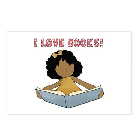 African America I Love Books Postcards (Package of