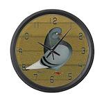 Woodgrain Flight Pigeon Large Wall Clock