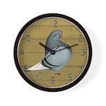 Woodgrain Flight Pigeon Wall Clock
