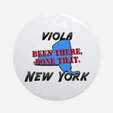 viola new york - been there, done that Ornament (R