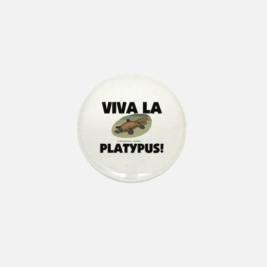 Viva La Platypus Mini Button