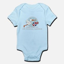 stork baby domin white 2.psd Body Suit
