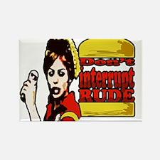 Cute Burger Rectangle Magnet (100 pack)