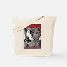 CCCP Woman Build Socialism Tote Bag