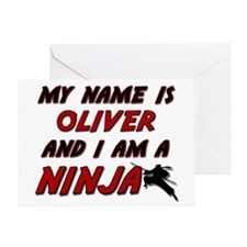 my name is oliver and i am a ninja Greeting Card
