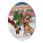 Santa's Treat for his Golden Oval Ornament