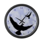 Homer Fly Home! Large Wall Clock