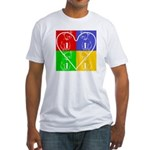 Four-color dog, heart Fitted T-Shirt