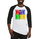 Four-color dog, heart Baseball Jersey