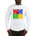 Four-color dog, heart Long Sleeve T-Shirt