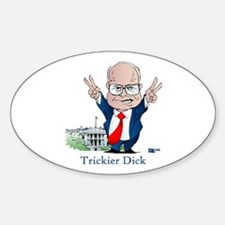 Trickier Dick Logo Oval Decal
