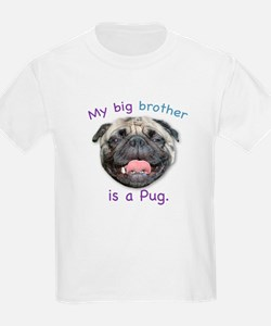 My big brother is a fawn Pug Kids T-Shirt