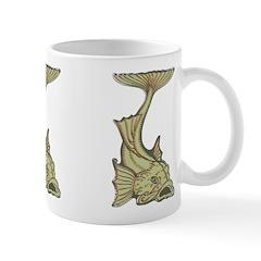 Green Art Nouveau Fish Ceramic Coffee Mug