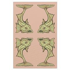 Green Art Nouveau Fish Posters