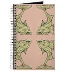 Green Art Nouveau Fish Journal