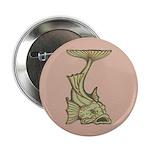 """Green Art Nouveau Fish 2.25"""" Button (10 pack)"""