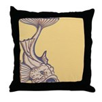 Purple Art Nouveau Fish Throw Pillow