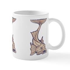 Purple Art Nouveau Fish Ceramic Coffee Mug