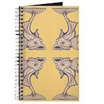 Purple Art Nouveau Fish Journal