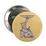 """Purple Art Nouveau Fish 2.25"""" Button"""