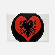 I love Albania Flag Rectangle Magnet