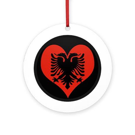 I love Albania Flag Ornament (Round)