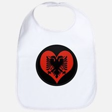 I love Albania Flag Bib