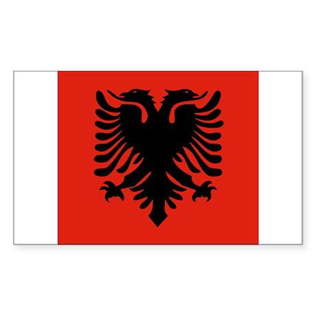 Albanian Rectangle Sticker 10 pk)