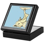 Yellow Art Nouveau Fish Keepsake Box