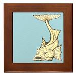 Yellow Art Nouveau Fish Framed Tile