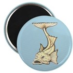Yellow Art Nouveau Fish Magnet
