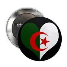 "I love Algeria Flag 2.25"" Button (10 pack)"