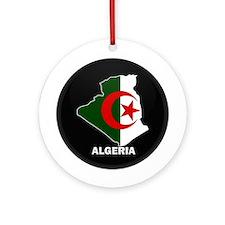 Flag Map of Algeria Ornament (Round)