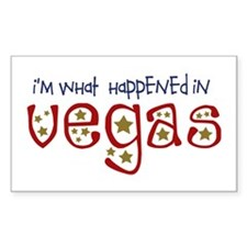 I'm What Happened In Vegas Rectangle Decal