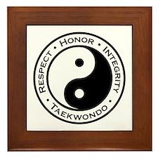 Respect Honor Integrity TKD Framed Tile